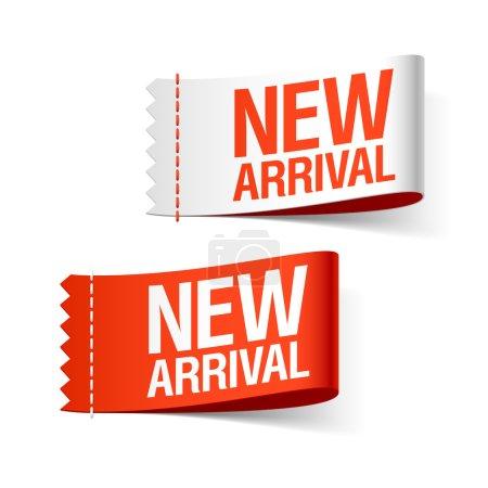 New arrival labels. Vector....