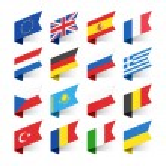 Flags of the World, Europe, set  vector illustrati...