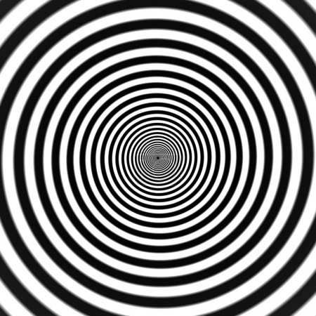 Illustration for Black and white hypnosis spiral. Vector. abstract background - Royalty Free Image