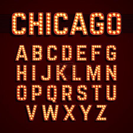 Broadway style alphabet