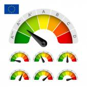 European Union energy efficiency rating set of indicators vector illustration