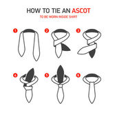 How to Tie an Ascot instructions