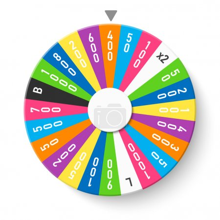 Illustration for Colorful wheel of fortune symbol. vector illustration - Royalty Free Image