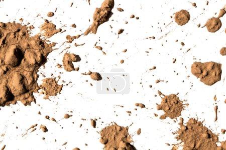 Splash of clay on white