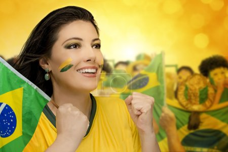 Brazilian female football fan