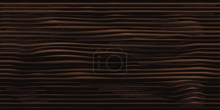 Dark wood texture. Natural wooden background section. Eps10 vector illustration.