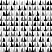 A seamless monochrome pattern with triangles pointing upward
