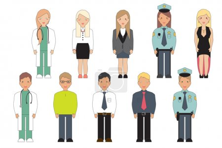 Vector Illustration of Professions.