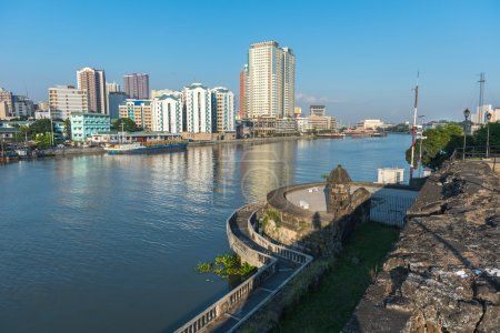 Fort Santiago and buildings along the Pasay River