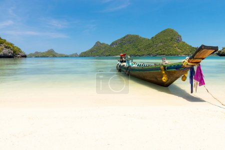 Traditional fishing longtail boat at Thailand