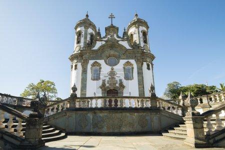 Photo pour Eglise de Sao Francisco de Assis à Sao Joao Del Rey - Minas Gerais, Brésil - image libre de droit