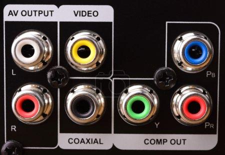 Foto de Conector coaxial de Audio, de cerca - Imagen libre de derechos