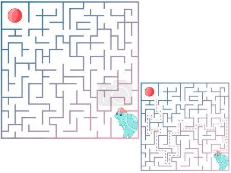 An educational maze game for preschool children. F...