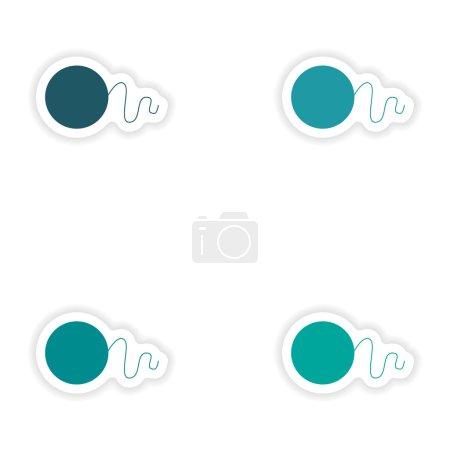 Illustration pour Conception de sticker réaliste d'assemblage sur papier Flossing - image libre de droit