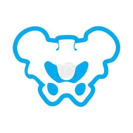 flat icon on white background human pelvis