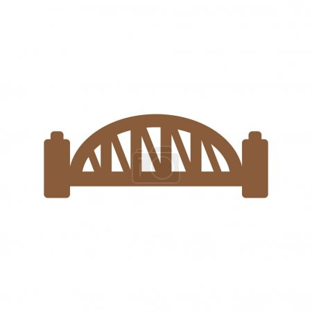 flat icon on white background Sydney Harbour Bridge