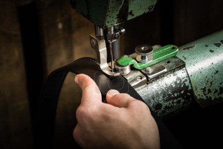 Sewing process of the leather belt