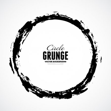 Vector ink grunge circle frame...