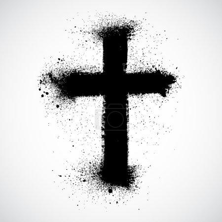 Illustration for Grunge cross - Royalty Free Image