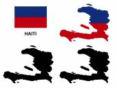 Haiti map vector Haiti flag vector isolated Haiti