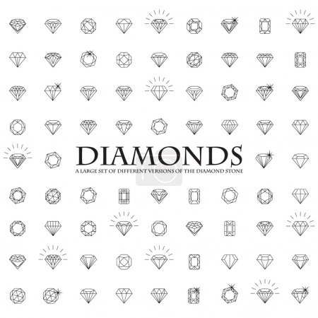 Diamonds, a large set of different versions