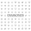Diamonds Icons set, design element, symbol of the ...
