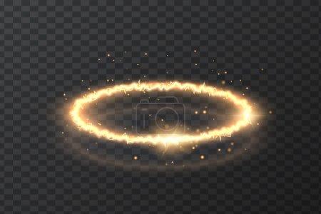 Illustration pour Image vectorielle de foudre, lumière naturelle, illustration d'énergie, sur un fond transparent. Élément de conception d'outil . - image libre de droit