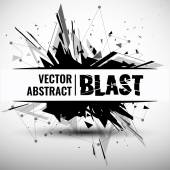 Vector illustration of an abstract explosion