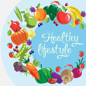 Fruits and vegetables healthy life style