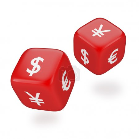 Rolling Dices with Currency Symbols