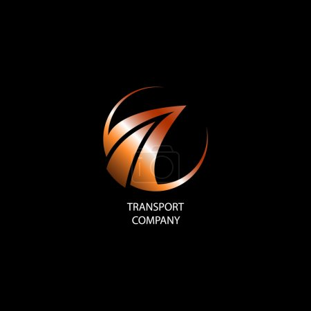 Illustration for Transport company logo - Royalty Free Image