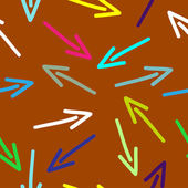 Illustration with colorful hand drawing arrows pattern