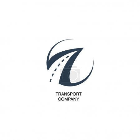 Illustration for Illustration with transport company logo - Royalty Free Image