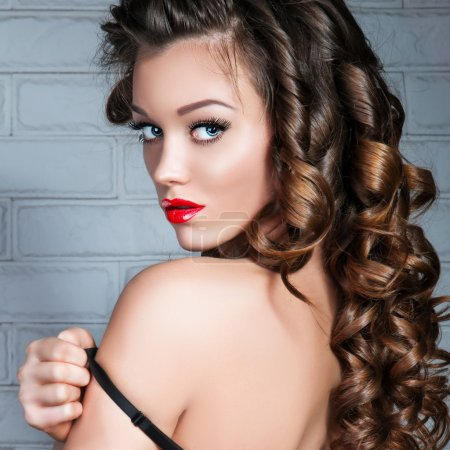 Glamorous Beauty Young Woman