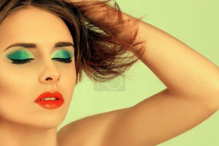 Beauty Fashion Model Girl Portrait.
