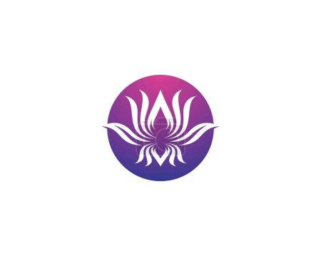 Illustration pour Logo de conception de fleurs vectorielles de beauté icône modèle - image libre de droit