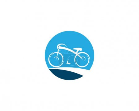 Illustration for Bicycle vector icon illustration - Royalty Free Image