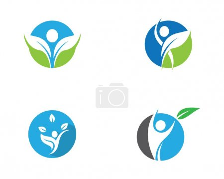 Illustration pour Modèle de logo de vie saine icône vectorielle illustration design - image libre de droit
