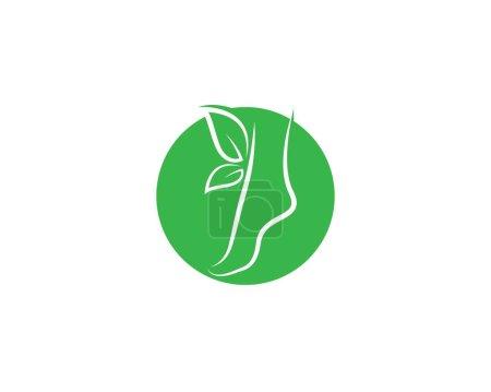 Illustration pour Icône vectorielle de logo de thérapeute de pied - image libre de droit