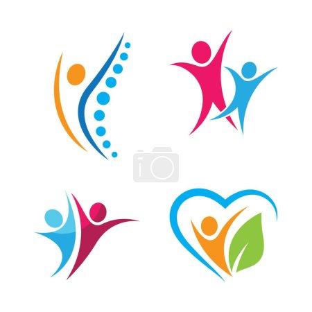 Illustration pour Wellness logo images illustration design - image libre de droit