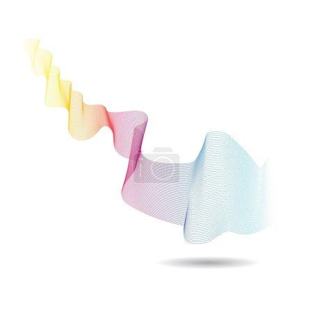Illustration pour Conception d'illustration d'icône vectorielle ligne d'onde - image libre de droit