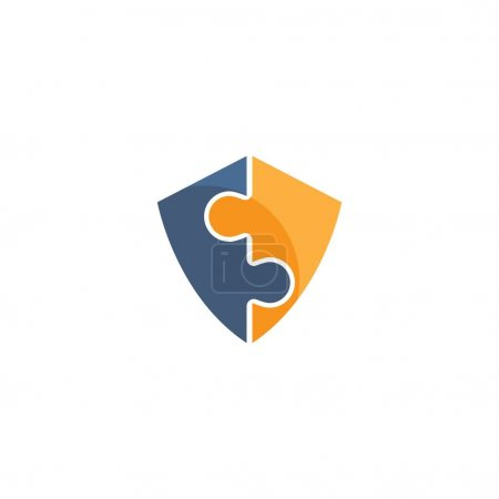Illustration for Shield  icon logo creative illustration design - Royalty Free Image