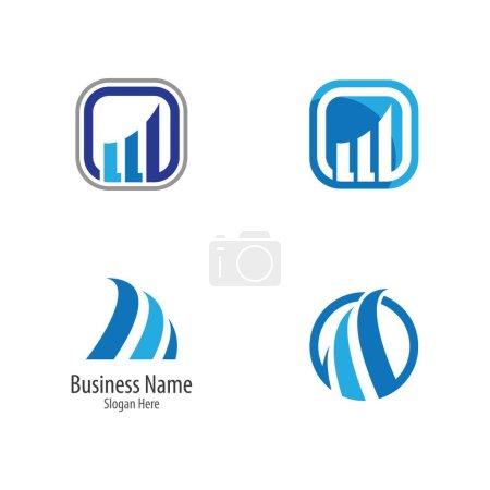 Illustration pour Modèle de logo abstrait illustration vectorielle design - image libre de droit