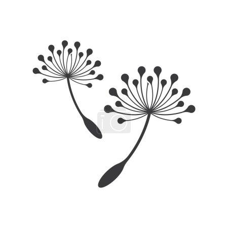 Illustration pour Dandelion logo images illustration design - image libre de droit