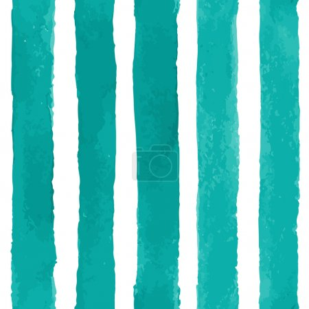 Vector Seamless Pattern with Watercolor Stripes