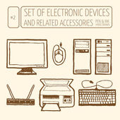 Set of electronic devices