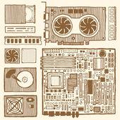 Components of desktop computer