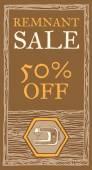 Remnant sale flyer