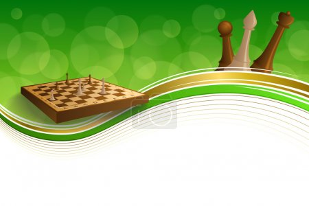 Background abstract green gold chess game brown beige board figures frame illustration Background abstract green gold chess game brown beige board figures frame illustration vector