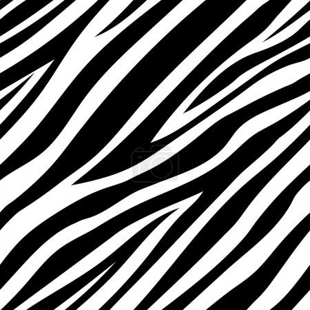 Illustration for Vector illustration of seamless zebra pattern in vector - Royalty Free Image